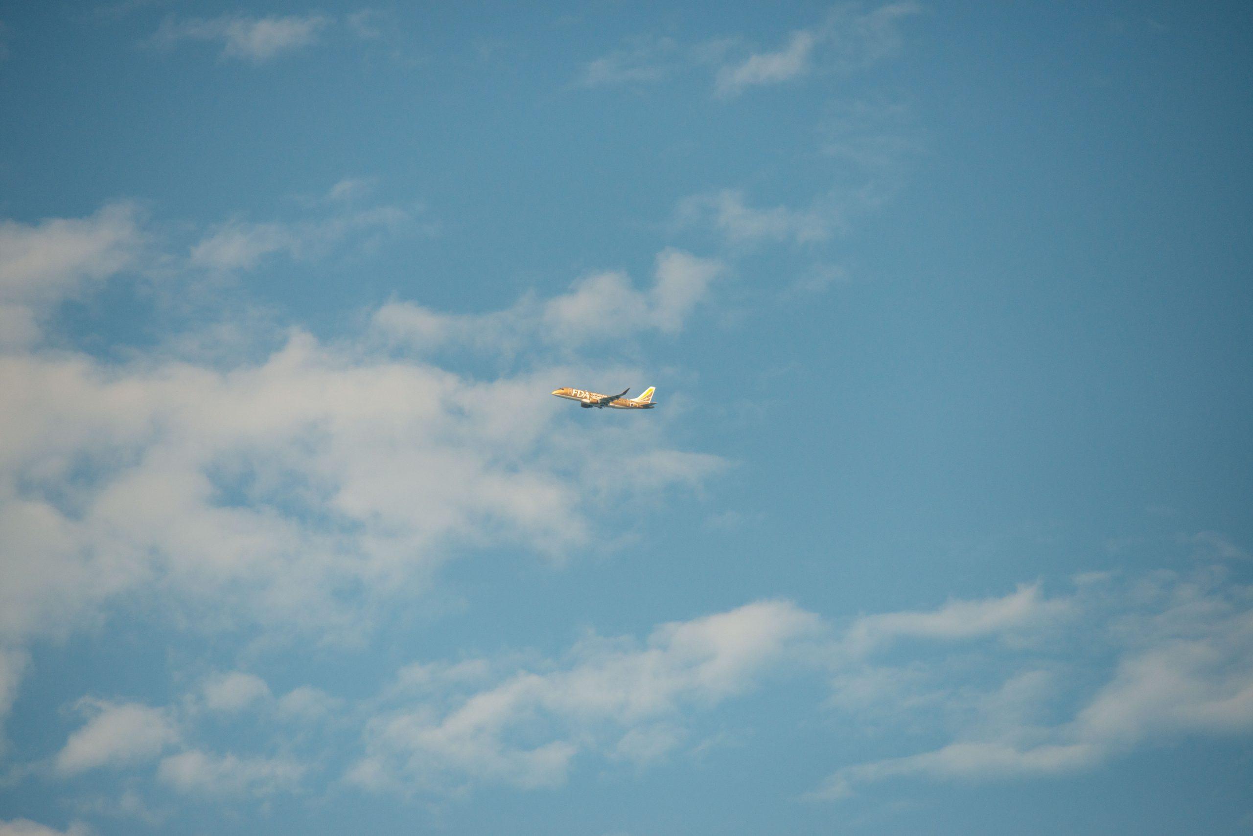 【Nikon】公園から飛行機を眺めて