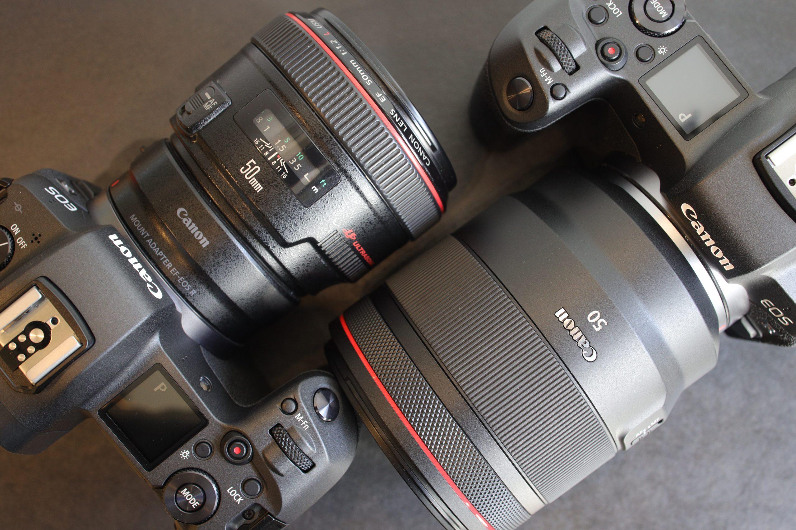 【新旧共存】RF50mm F1.2L USM・EF50mm F1.2L USM【Canon】