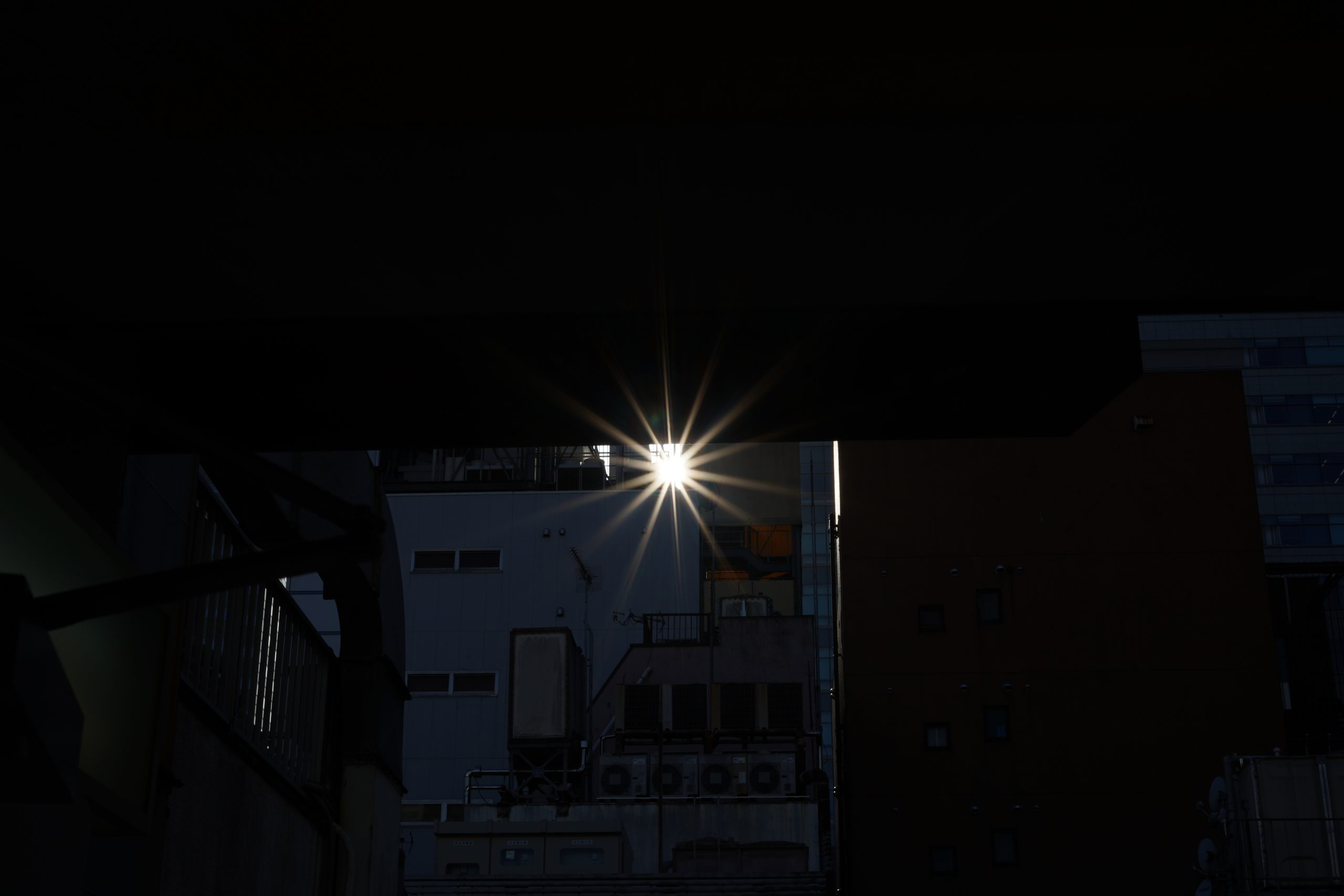 【SONY】光芒と絞り羽根