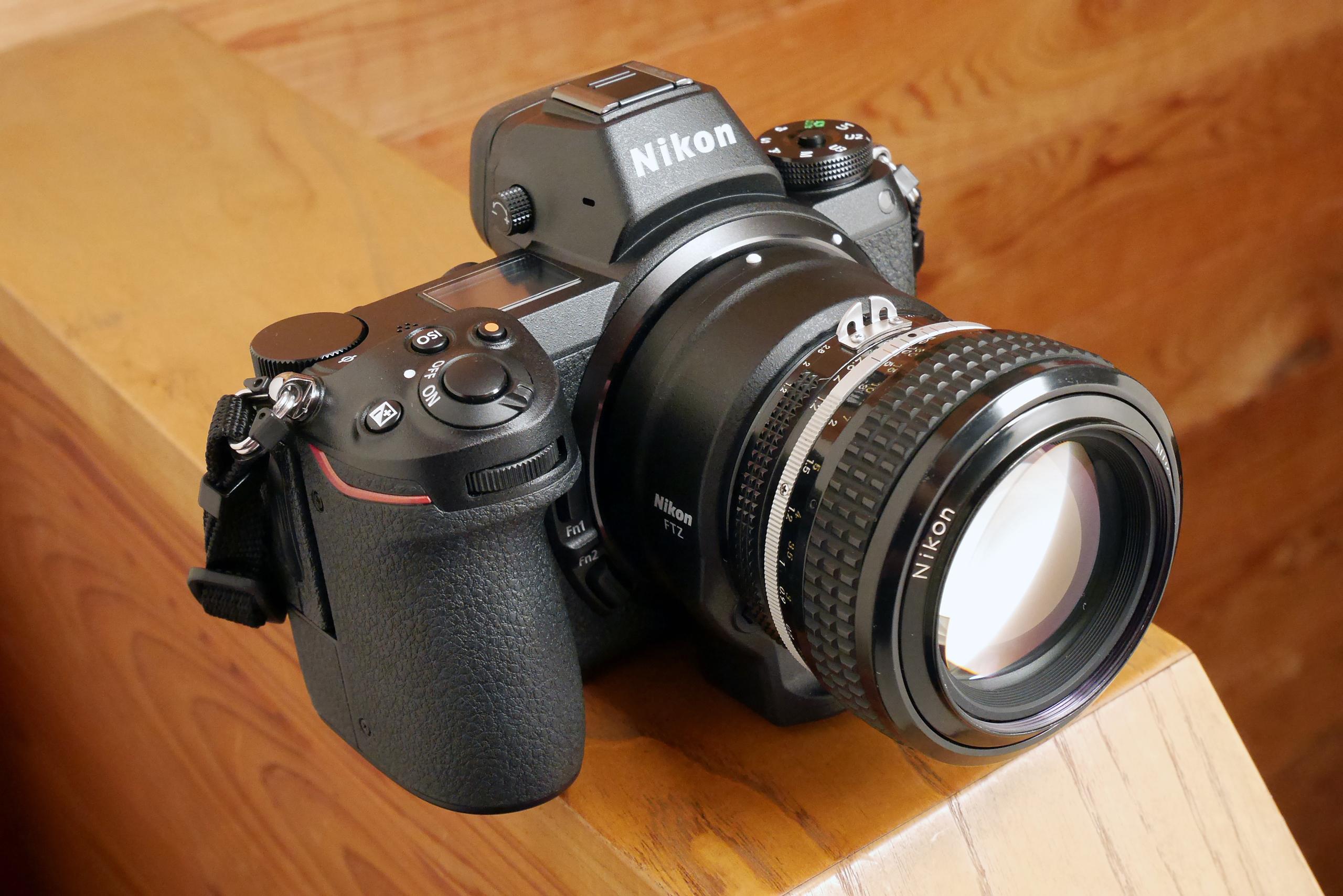 Nikon Z6+アダプター+オールド NIKKOR レンズ