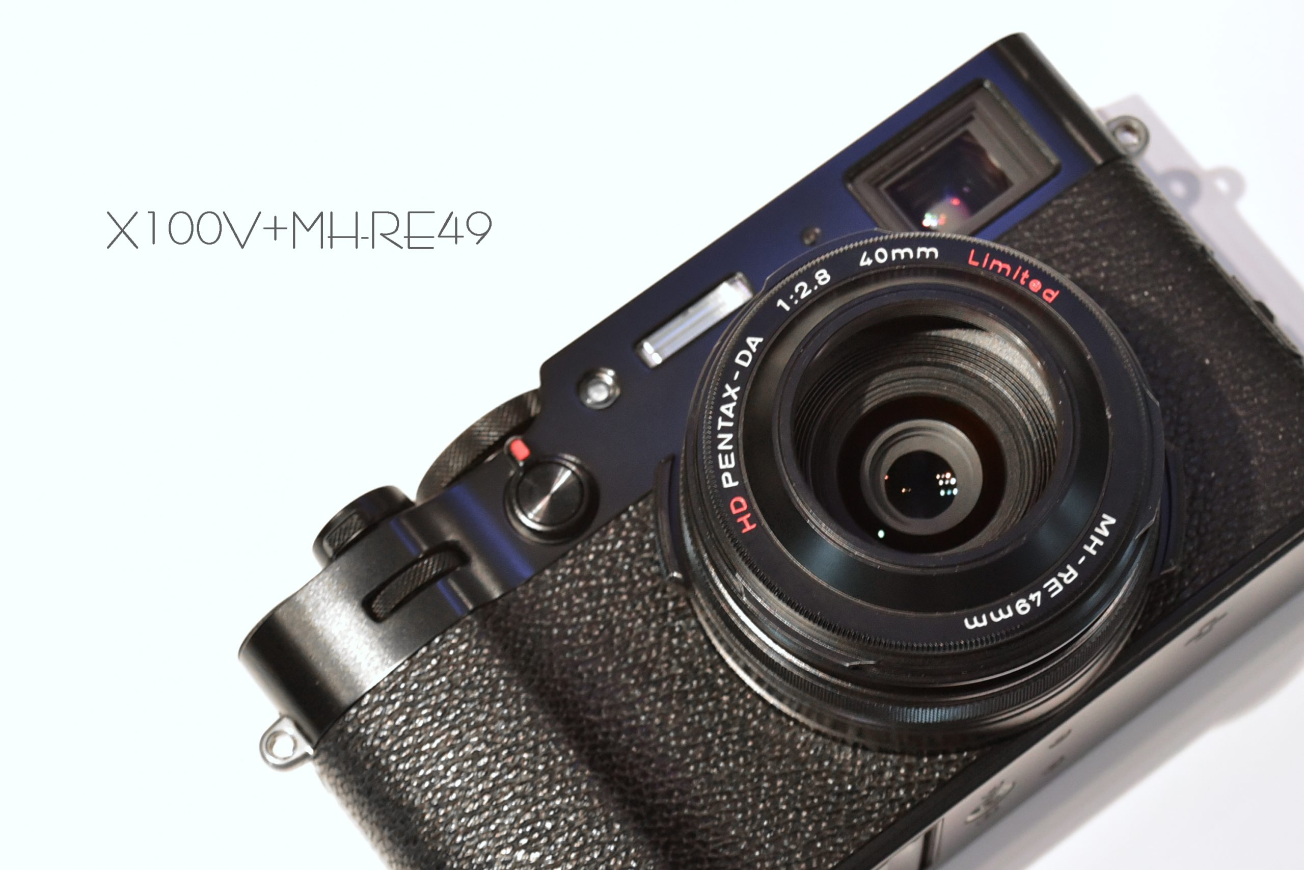 【FUJIFILM】X100VやX70にPENTAX HD DA40mm F2.8 Limitedのフードを付けてみる