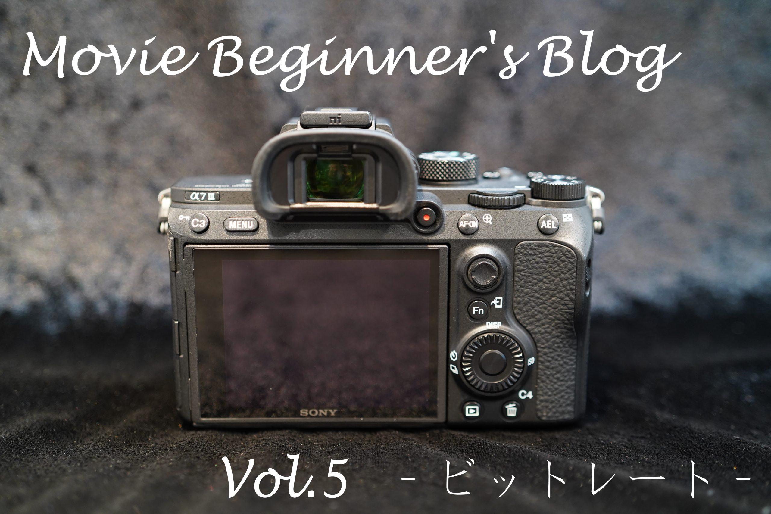 【SONY】Movie Beginner's Blog Vol.5 -ビットレート-