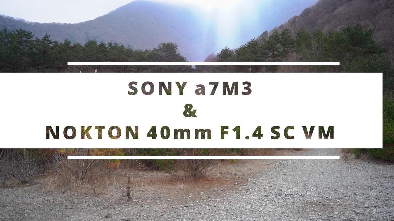 【Voigtlander】NOKTON 40mm F1.4 SCで山梨を撮る。