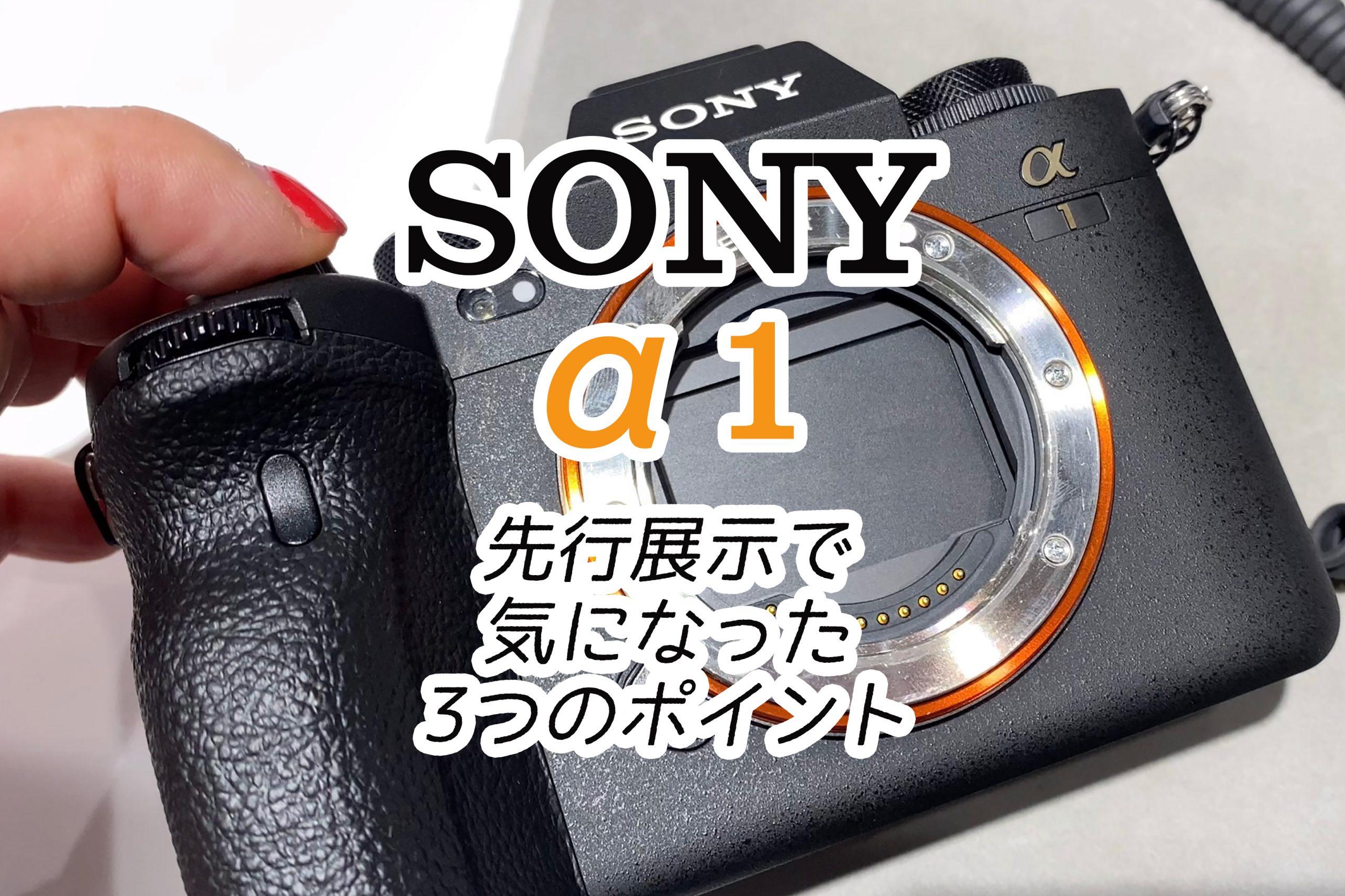 【SONY】α1先行体験・展示で気になった3つのポイント
