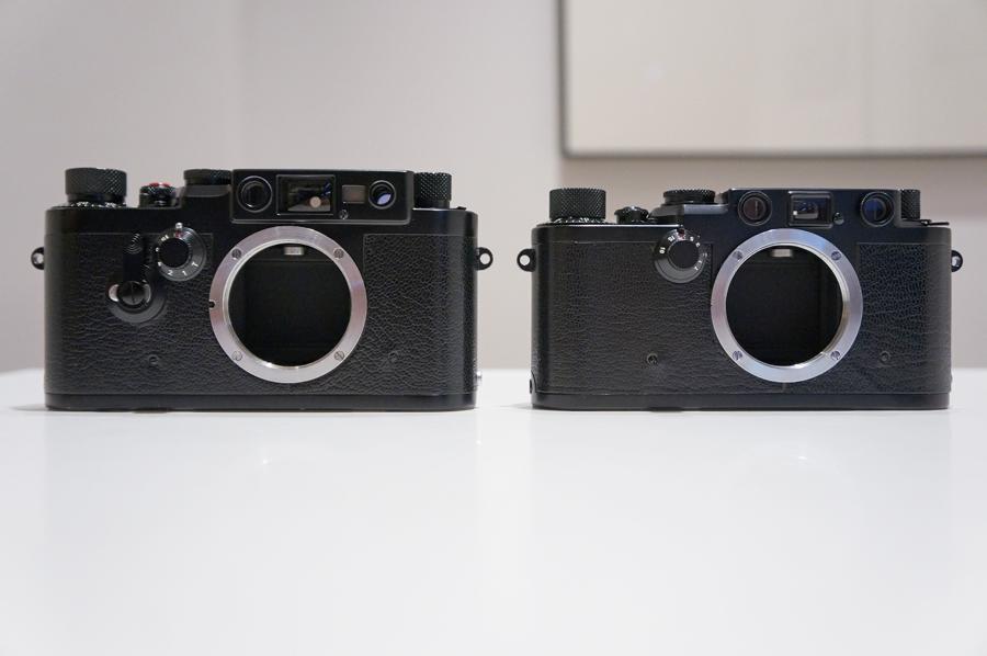 左から、IIIg 後塗りブラック + IIIf 後塗りブラック