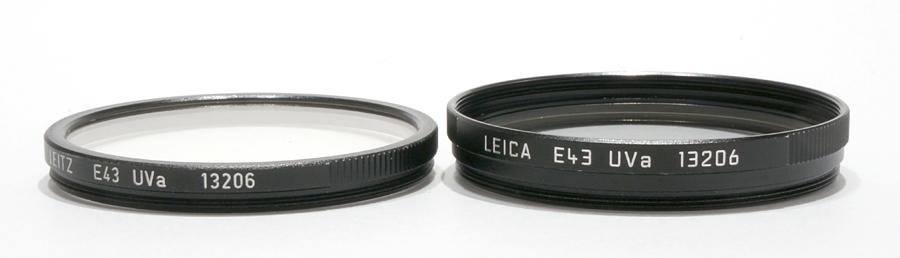Leica (ライカ) フィルター E43 UVa ブラック