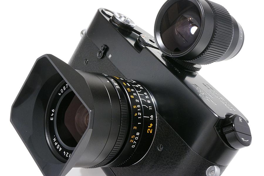 <br /> Leica MDa (後塗りブラック)+エルマー M24mm F3.8 ASPH.+ビューファインダー 21/24/28MM ブラック