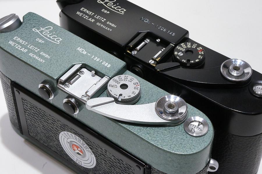 Leica (ライカ) MDa (ハンマートーン改造)、Leica (ライカ) MDa (後塗りブラック)