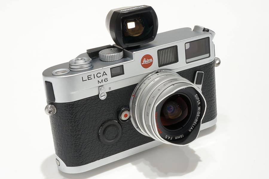 Leica M6 + Voigtlander SUPER WIDE-HELIAR 15mmF4.5 Aspherical シルバー+ M/L変換リング