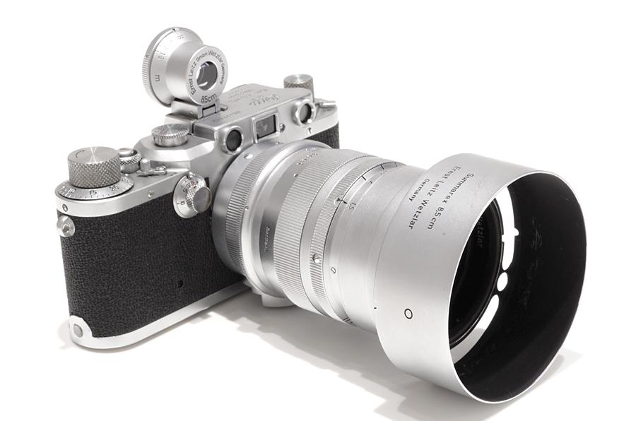 Leica (ライカ) IIIc 後期 (クローム) + ズマレックス L85mm F1.5 クローム + SGOOD 85mm ファインダー