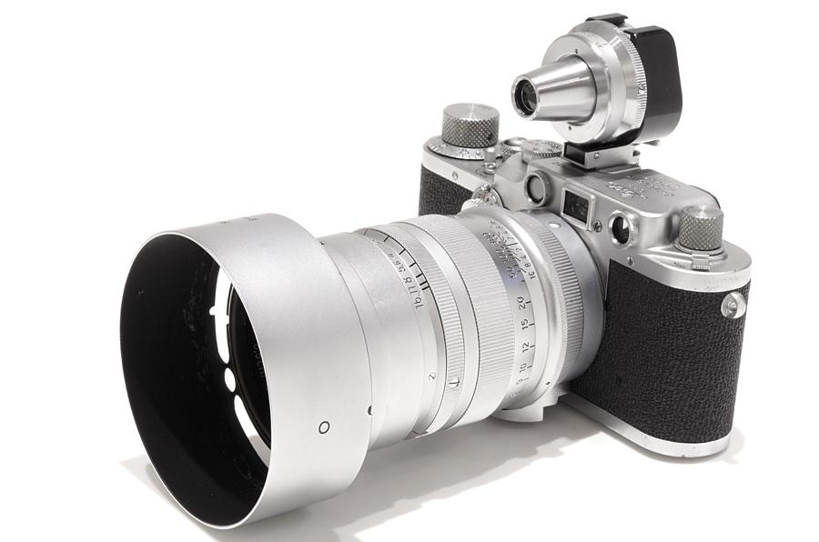 Leica (ライカ) IIIc 後期 (クローム) + ズマレックス L85mm F1.5 クローム + イマレクト (正像)ファインダー ※正像ビドム