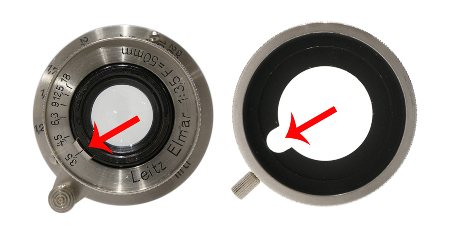 Leica (ライカ) VALAU エルマー5cm用絞り調整機構付フード ニッケル