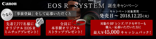 EOS R SYSTEM誕生キャンペーン