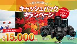 【Nikon】一眼で秋を撮ろう!キャッシュバックキャンペーン終了迫る!