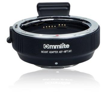 Commlite(コムライト) マウントアダプター キヤノンEFレンズ/マイクロフォーサーズボディ用 AF対応 電子接点付き CM-AEF-MFT