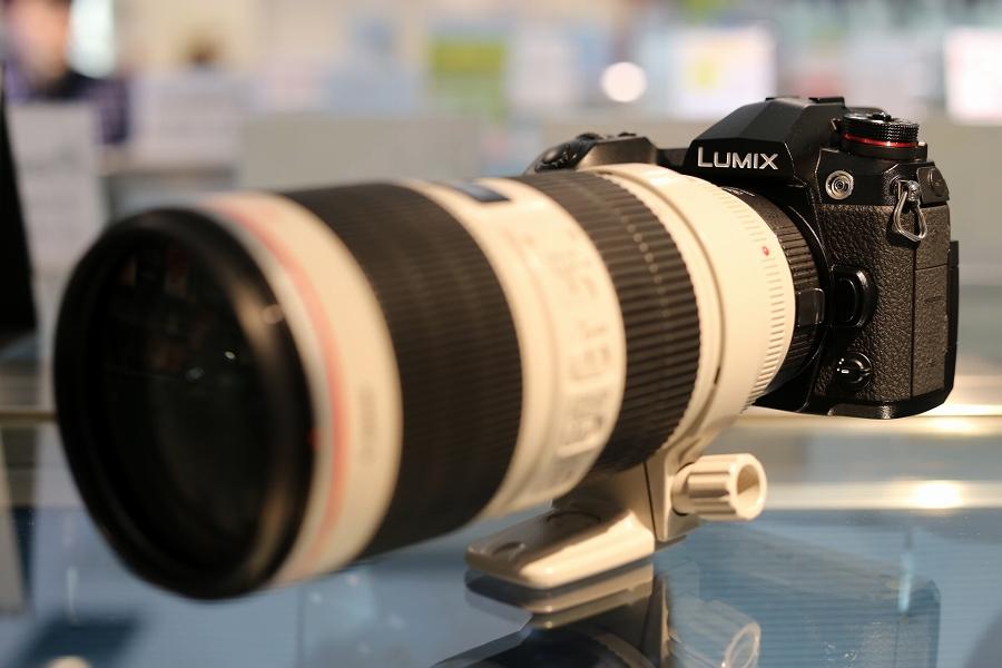 EF70-200mm F2.8L IS USM + Commlite マウントアダプター CM-AEF-MFT