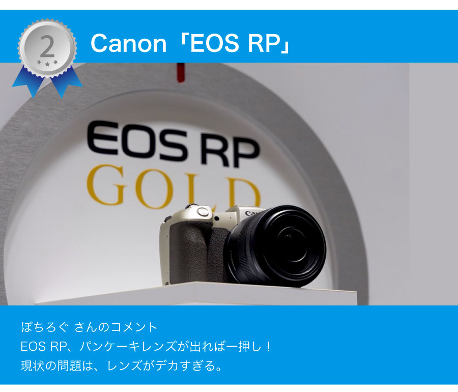 2位 Canon EOS RP
