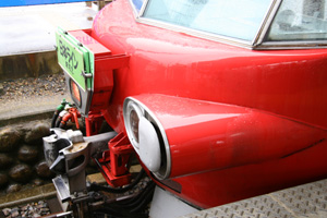 標識灯と油圧ダンパー