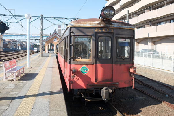 銚子駅に停まるデハ801