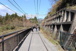 廃線跡を利用した遊歩道