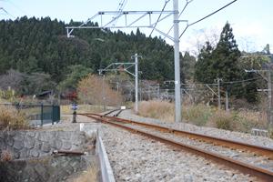 旧線と新線の分岐点