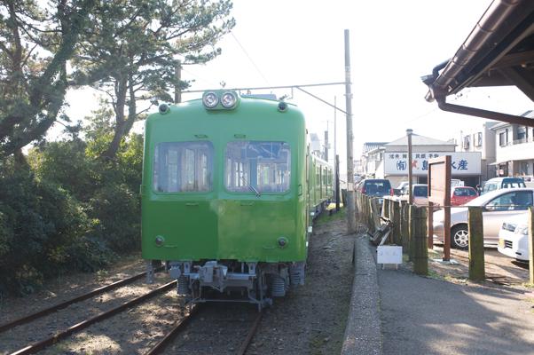 外川駅に停まる新型車両