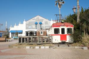 犬吠駅の電車レストラン