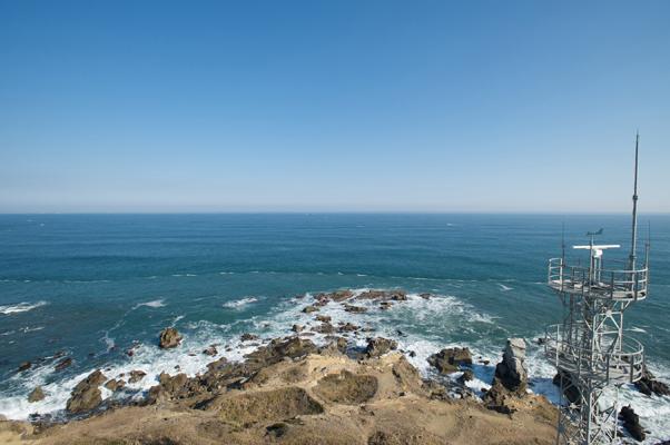 灯台から望む太平洋