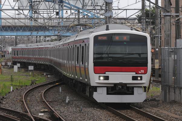 E331系試運転(蘇我駅にて)