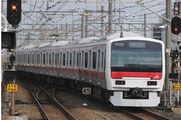 E331系試運転(新習志野駅にて)