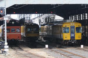 雲州平田駅の一畑電車車庫