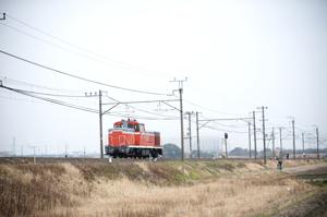DE10形ディーゼル機関車の回送
