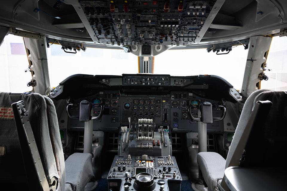 747のコックピット