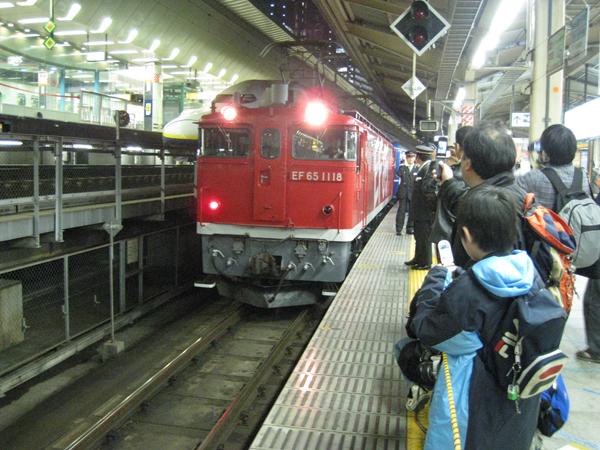 東京駅入線の銀河