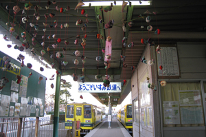 大原駅のいすみ鉄道乗り場