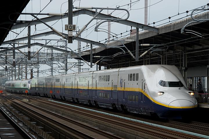 E4系「Maxやまびこ」+E3系「つばさ」(宇都宮駅にて)