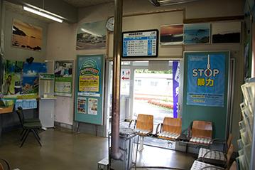 三厩駅待合室