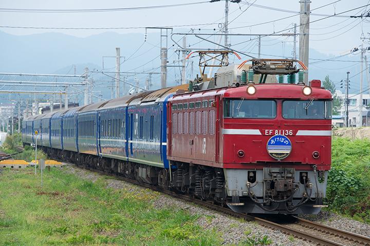 上野発の夜行列車「あけぼの」青森行
