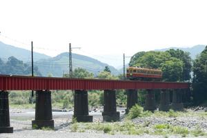 大井川を渡る京阪電車