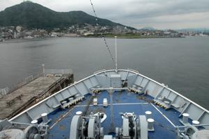 摩周丸から函館湾を望む