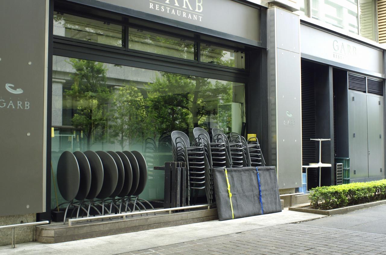 開店前のCafe S 1/20 F8 ISO 800 WB 太陽光 画像仕上 風景