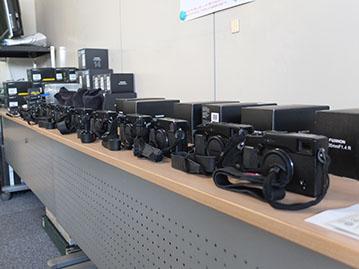 セミナーに用意されたXシリーズのカメラ群