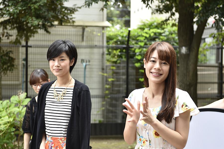 モデルのnatsuさんと前浜瞳さん