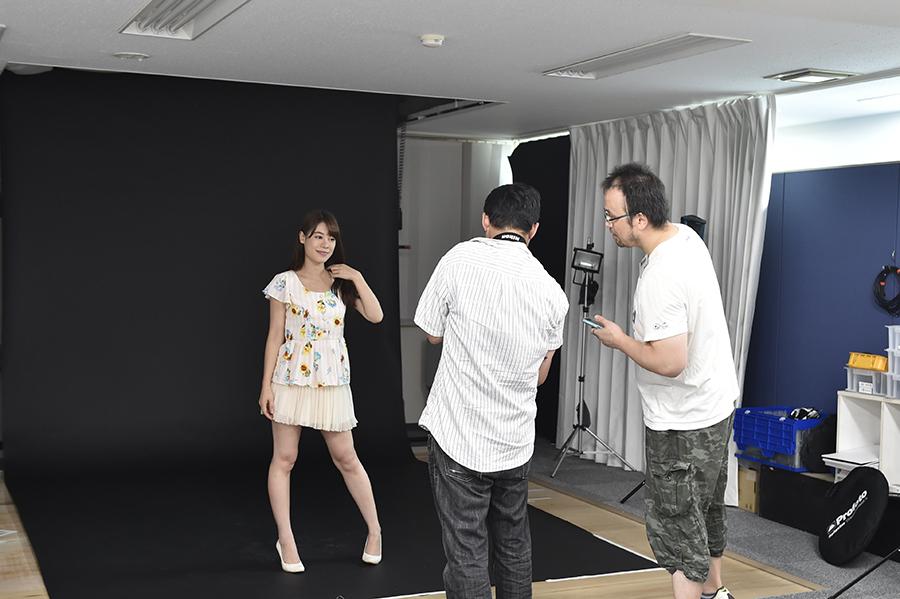 屋内スタジオ撮影