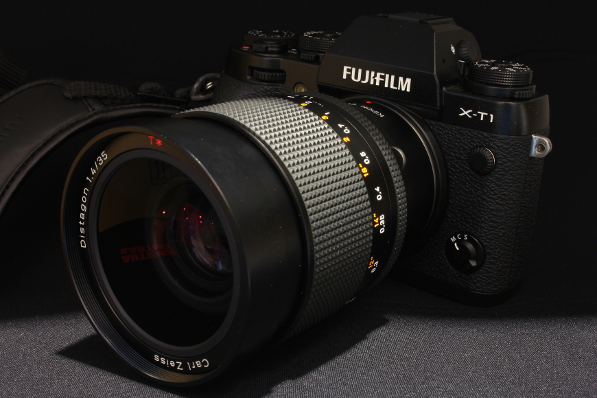 【CONTAX】 FUJIFILM X-T1 + Distagon 35mm 1.4 MM
