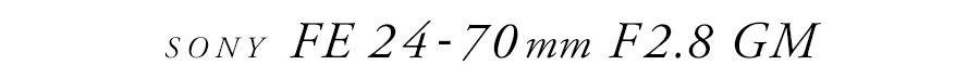 SONY (ソニー) FE 24-70mm F2.8 GM SEL2470GM