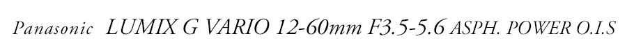 Panasonic (パナソニック) LUMIX G VARIO 12-60mm F3.5-5.6 ASPH. POWER O.I.S