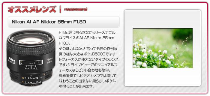 Ai AF Nikkor 85mm F1.8D