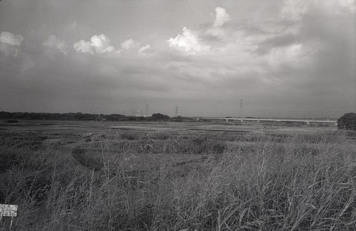 ジュピター12 35mmf2.8 河川敷の空